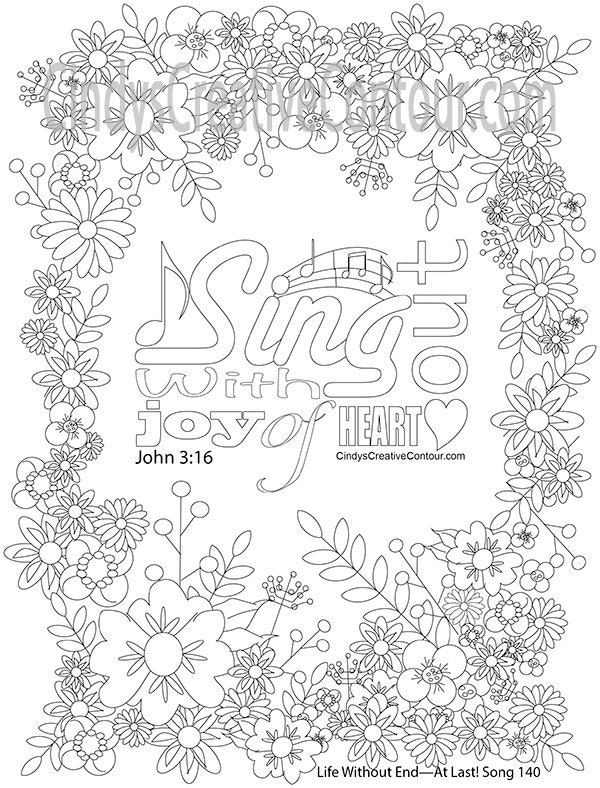 sing out with joy of heart coloring page JW Ministry Products zoom
