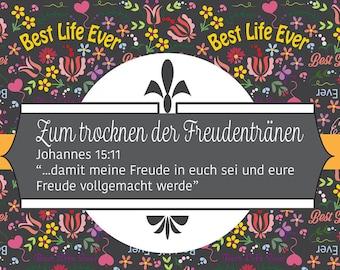German Download - Set of 4 labels - JW Pioneer School gifts - JW pioneer school - JW Use for Tears of Joy! - Jw Labels - Jw Printables