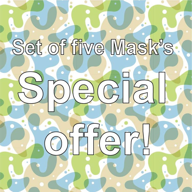 Downloadable Set of 5 Masks  Pretend Play dress up  Pretend image 0