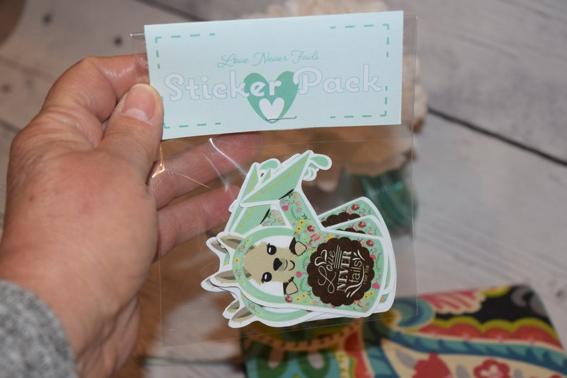 Set of 6 Stickers Love Never Fails Jw gift Pioneer gift image 0