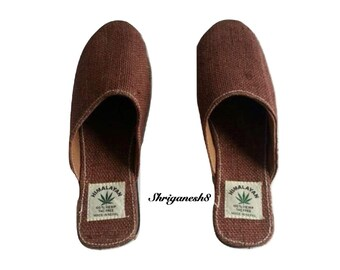 Eco Friendly Natural Bohemain Pure Hemp Slippers