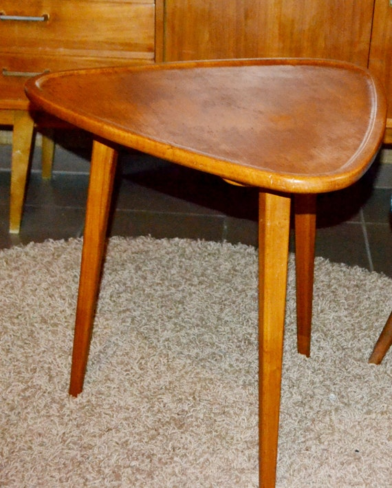 Phenomenal Vintage Couch Table Wood 60S Retro Design Rockabilly Mid Century Caraccident5 Cool Chair Designs And Ideas Caraccident5Info