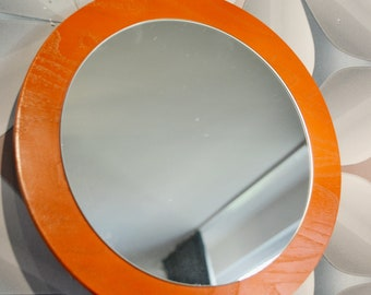 Vintage Mirror 70s Orange