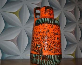 Vintage vase Orange 70s