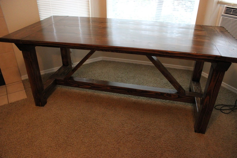 Genial Rustic Farmhouse Dining Table   Made In Oregon