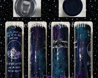 Made to Order** Night Court Inspired, Epoxy Sealed Tumbler 20 oz and Up