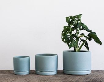 Tabletop Planter in Siren Blue