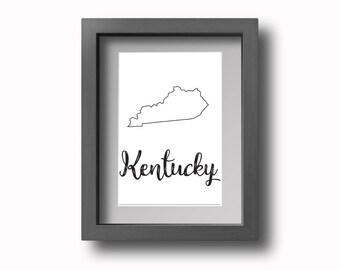 PRINTABLE Kentucky Wall Art!