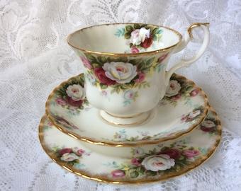 Royal Albert Celebration Trio Cup Saucer Tea Plate