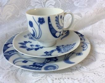 Echt Kobalt Blue and White Trio