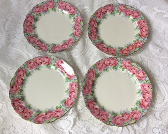 Royal Standard Rose of Sharon Tea Plates Set of 4
