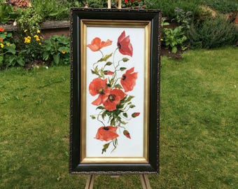 Pretty and Bright Poppy Painting
