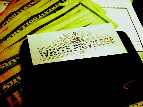 The White Privilege ID Card Only 99 Cents Each Give