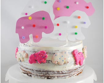 circus animal cookies cake topper