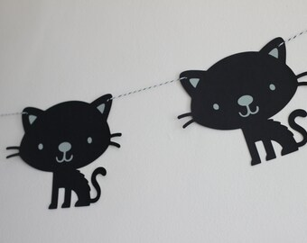 black kitty garland