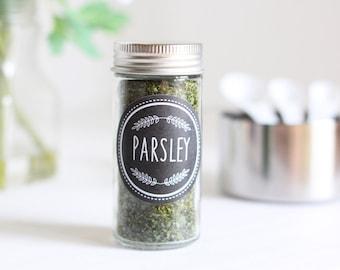 Modern Spice Labels, Chalkboard Labels