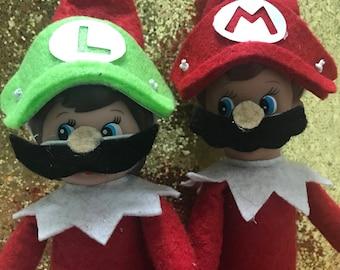 Elf on shelf costume and clothes , elf accessories ,elf super mario brother, mario, luigi