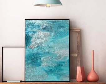 ocean print, printable wall art, turquoise, bathroom art, art print, prints wall art, poster print, digital print, wall art, downloadable