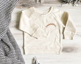 Thankful Crewneck - toddler boys - thanksgiving outfit - fall outfit for girl