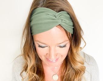 Sage Green Twist Headband - Boho Style Headband Matching Mommy and Me Headband Twisted Headband Headband for Nurses