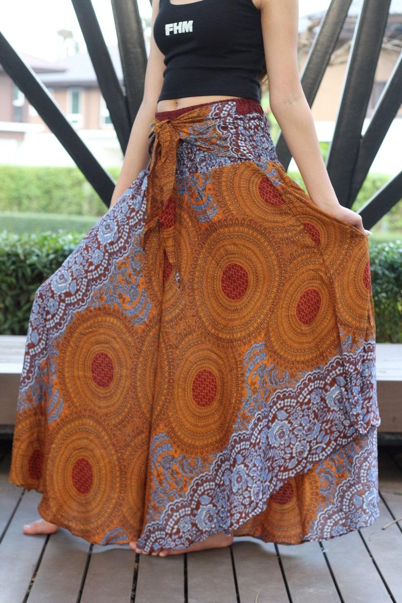 03570e6743 Breezy Gypsy Maxi Skirt Flare Skirt Beach Skirt Boho Chic Boho | Etsy