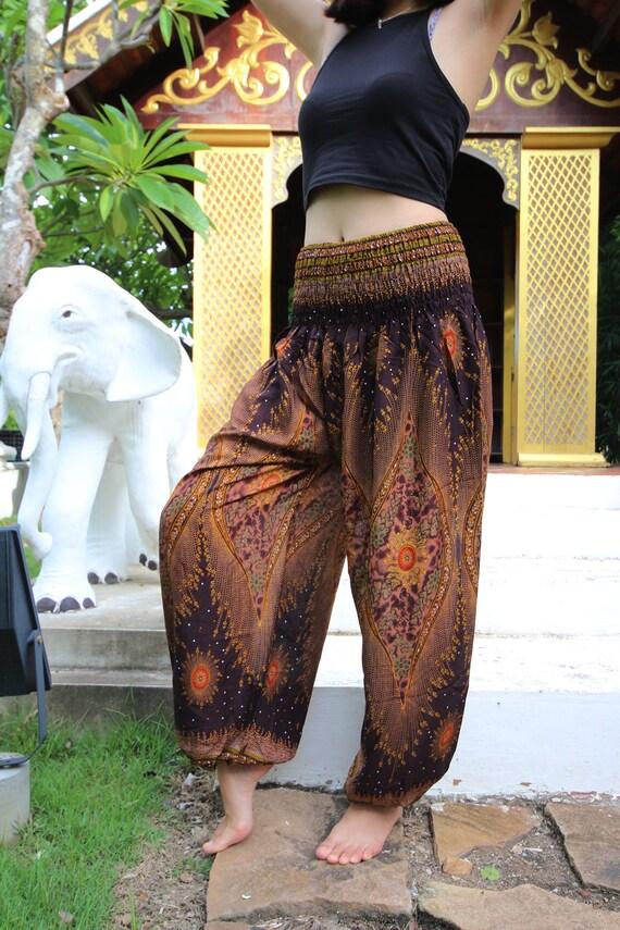 Plus Size Hippie Pants Boho Clothing Maternity Clothes Peacock Etsy