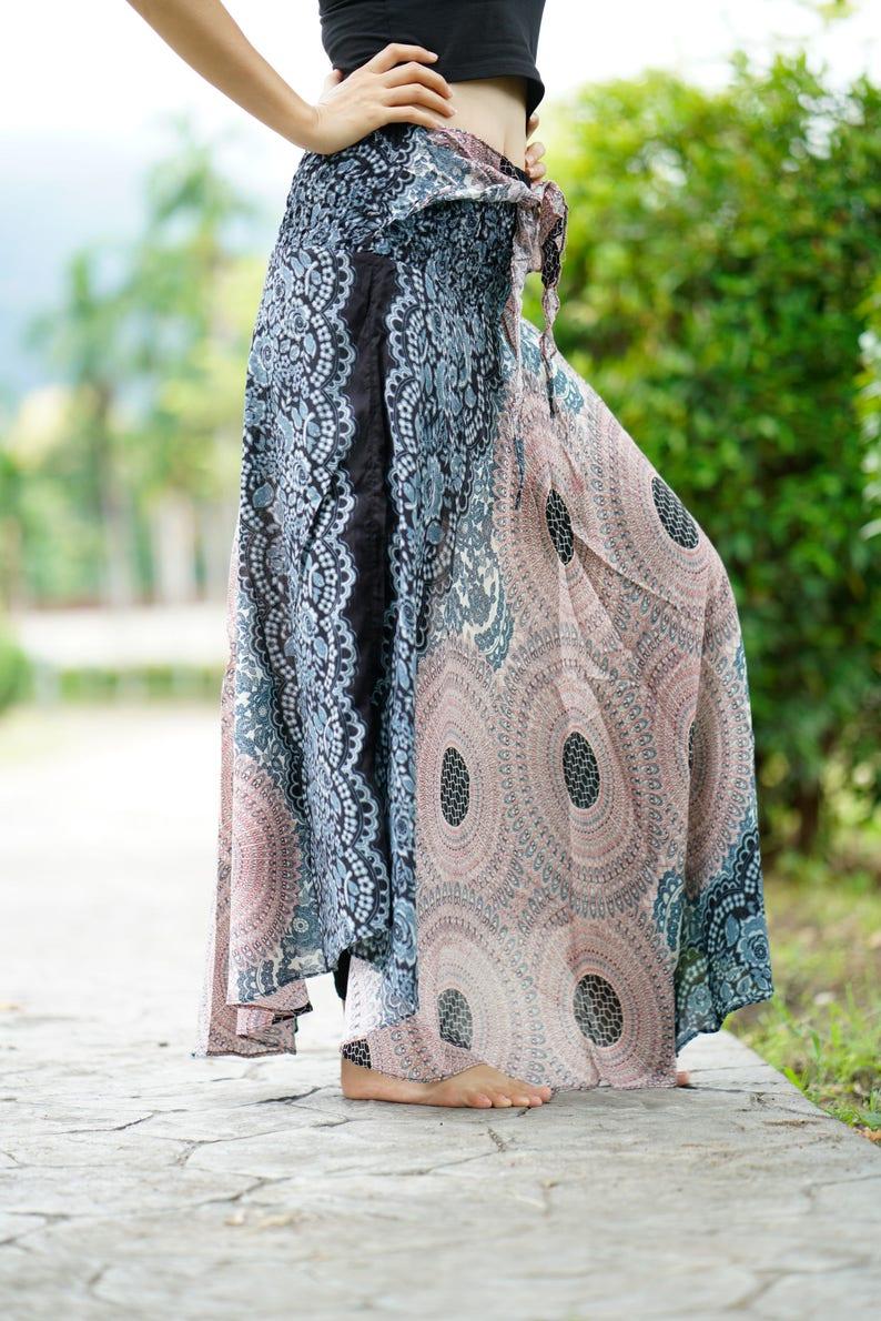 b1d07ecb96 Plus Size Bohemian Maxi Skirt Gypsy Long Skirt Boho Chic Blue | Etsy
