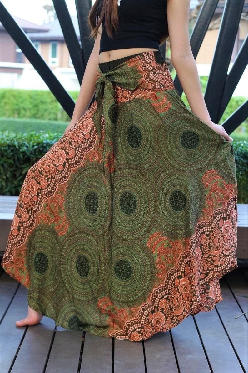 Breezy Boho Maxi Skirt Bohemian Clothing Gypsy Skirt Boho Chic image 1