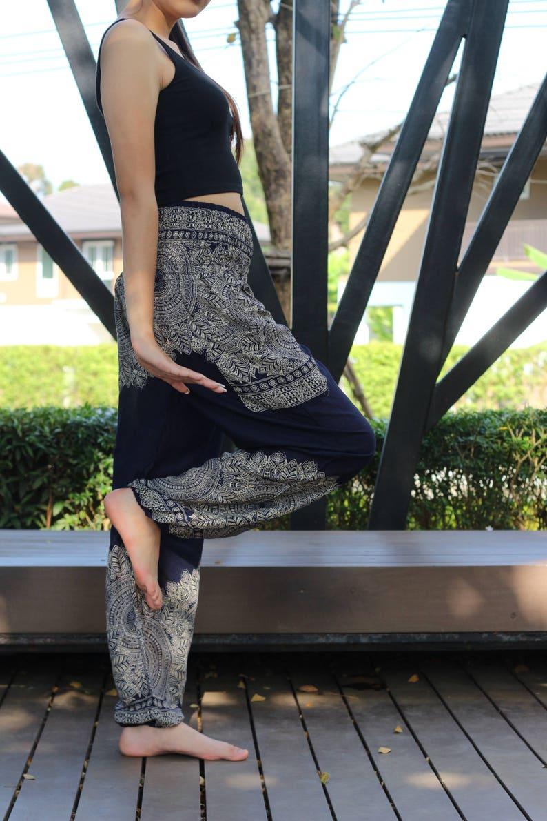 Harem Pants Hippie Pants Yoga Pants Boho Chic Navy Blue Lai Thai