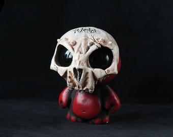 Souvenir Gypsum Figurine, Skull Mask, Gypsum Sculpture with Mask, Gypsum Skull Souvenir, Skull Decor, Skull Figurine,
