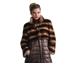 Rabbit skin jacket | Etsy