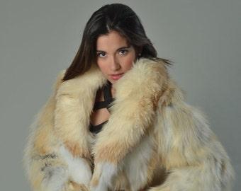 3c43819bbdd06 Golden Fox Fur Coat  Fur jacket  Luxury gift  Wedding