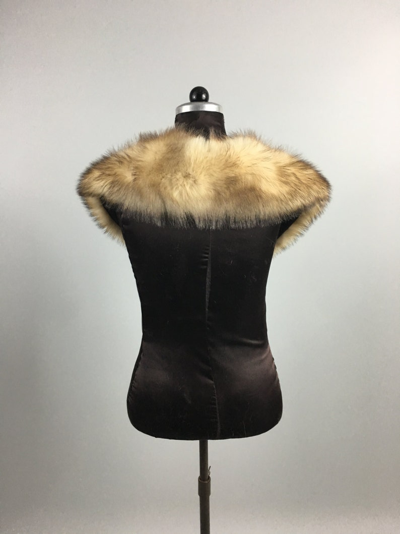 Luxury gift  Light Brown Fur  Collar  Women/'swedding or anniversary present