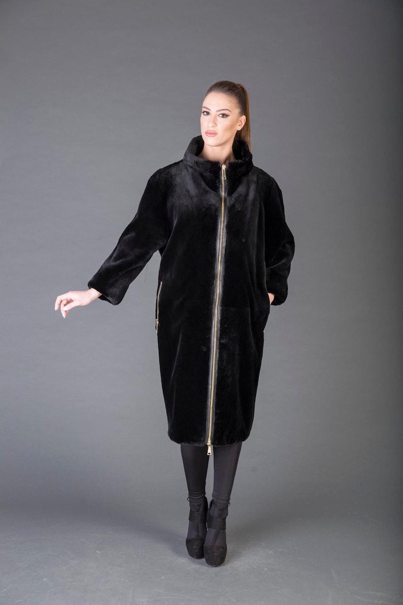 Luxury gift/Beaver  fur Coat/Fur jacket full skin / Weddingor image 0