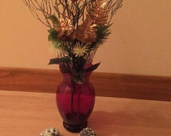 Ruby Red Vase Anchor Hocking
