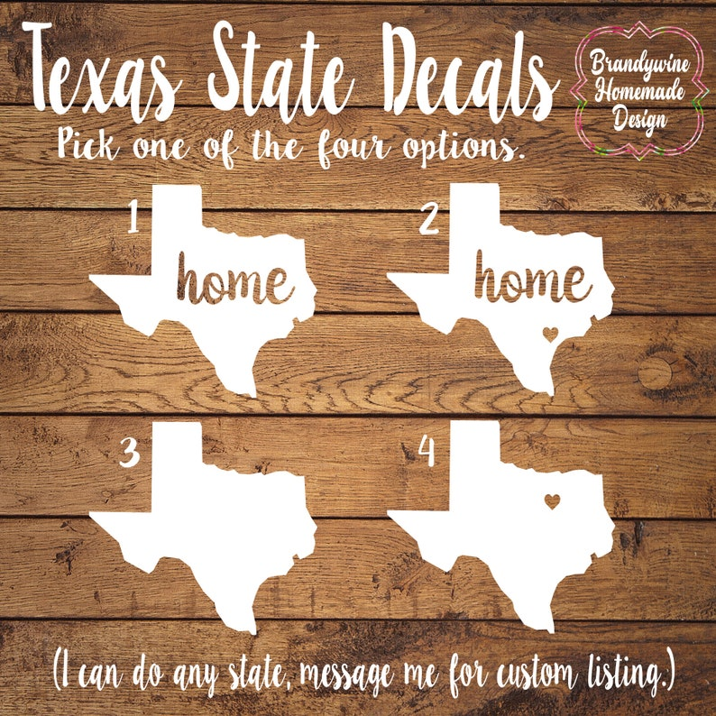 Texas Decals State of Texas Decals Texas Home Decal Texas image 0