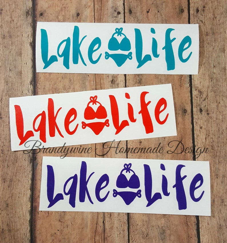 Lake Life Decals DIY Decals Lake Decals Boating Decals Car image 0