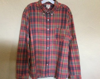 Button down Madras check cotton fabric blouse or top in kimono style sleeveless sleeve
