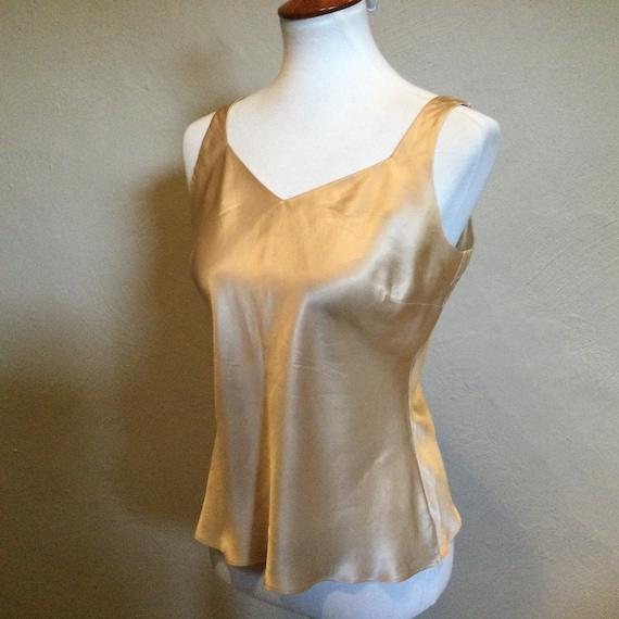 Silk Nude Color Tank Camisole / Pure Silk Beige Bl