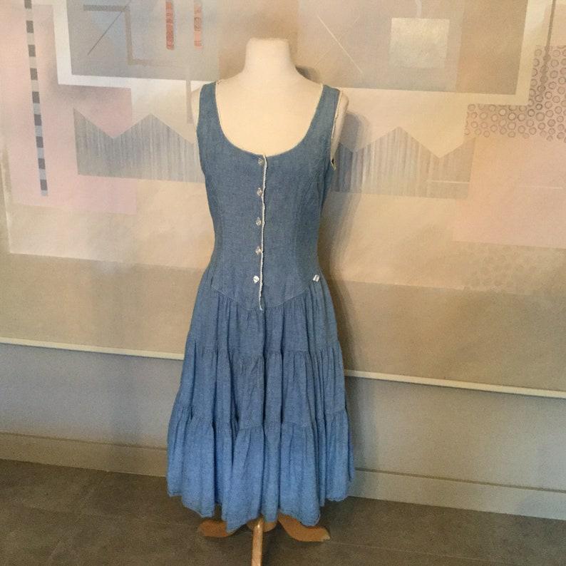 ac864e015f Vintage Denim Dress by Guess   George Marciano Denim Dress