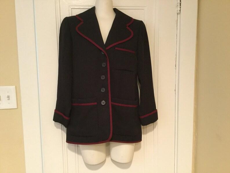 2ac487e0cb4 Vintage Yves Saint Laurent RIVE GAUCHE Jacket / YSL Designer | Etsy