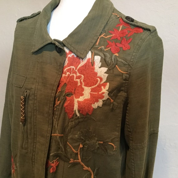 Embroidered Field Jacket / Anthropologie Embroider