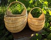 Wall wicker basket
