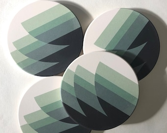 WAVES COASTERS set of 4 ceramic coasters