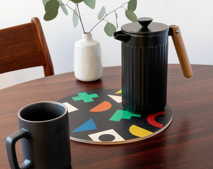 COLLAGE trivet centerpiece / desk coaster