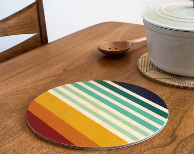 SUNSET trivet centerpiece / desk coaster