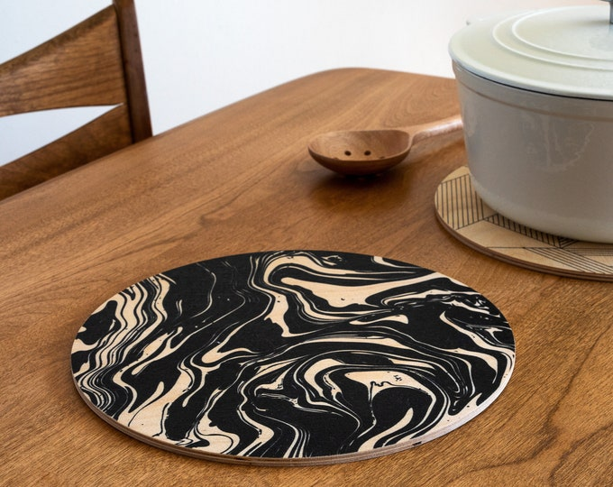 MARBLED trivet centerpiece / desk coaster