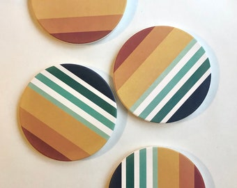 SUNSET COASTERS set of 4 ceramic coasters