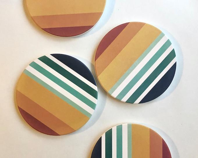 SUNSET COASTERS set of 4 ceramic coasters