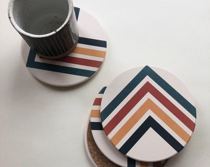 ANGLES COASTERS set of 4 ceramic coasters